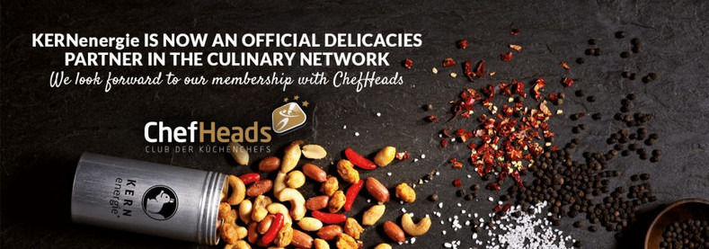 KERNenergie in the culinary network – Delicacies Partner of ChefHeads